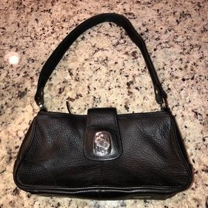 The Sak Black Leather Shoulder Bag Purse Hobo